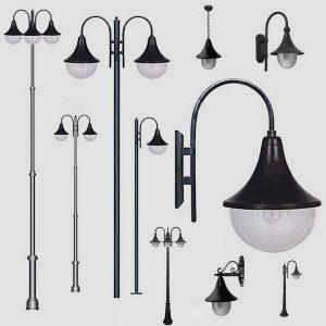 Садово-парковые светильники 1012, 2052
