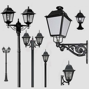 Уличные светильники на столб 1002, 1009, 2039, 2189