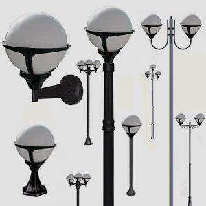 Уличные светильники на столб 1004, 1018, 2044