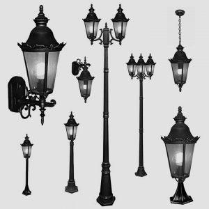 Уличные светильники на столб 1006