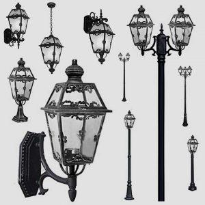 Уличные светильники на столб 1008