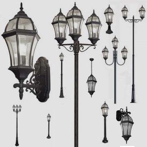 Уличные светильники на столб 1019, 2045