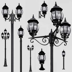 Уличные светильники на столб 1010, 2040, 2051