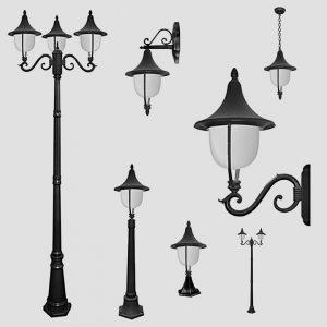 Уличные светильники на столб 1011