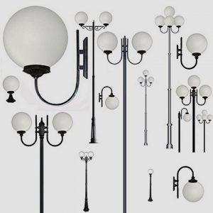 Уличные светильники на столб 1017, 2043, 2106
