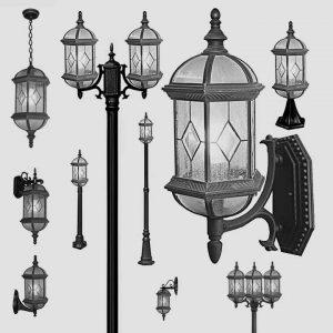 Уличные светильники на столб 1024