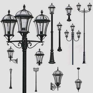 Уличные светильники на столб 1026, 2064
