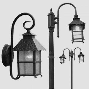 Уличные светильники на столб 1062