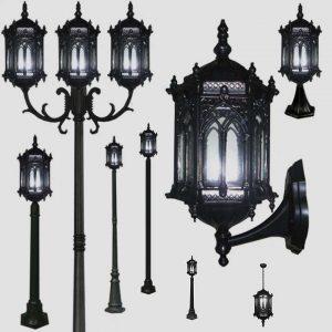 Уличные светильники на столб 1204, 2573, 2574