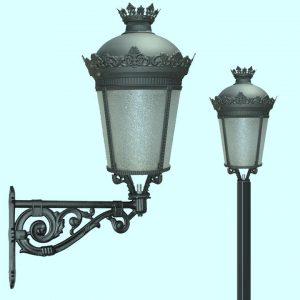 Уличные светильники на столб 2256, 2821, 2822