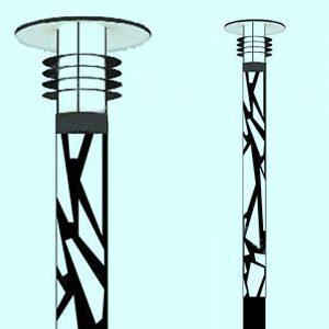 Уличные светильники на столб 3827