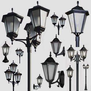 Уличные светильники с датчиком движения 1001, 1005, 2036, 2037