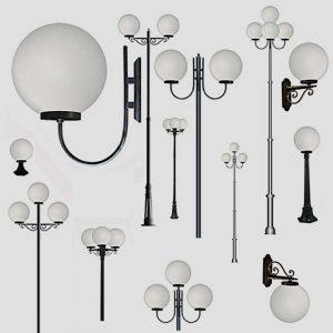 Уличные светильники с датчиком движения 1003, 1015, 2041, 2053