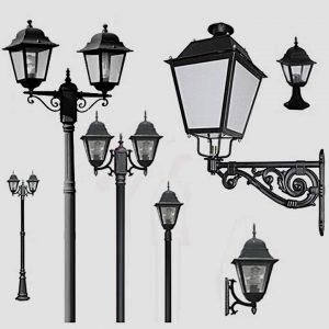 Уличные светильники с датчиком движения 1002, 1009, 2039, 2189