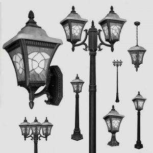 Уличные светильники с датчиком движения 1007