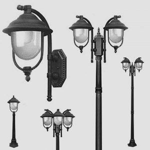 Уличные светильники с датчиком движения 1013