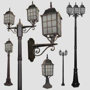 Уличные светильники с датчиком движения 1023