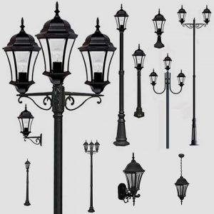 Уличные светильники с датчиком движения 1028, 2047